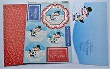 Kanban Christmas Snowman & Penguin Die Cut Foiled Toppers,Card, Insert Kit 54418