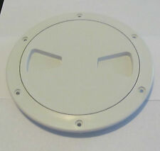"""Viking Marine Boat Polar White 6"""" Access Port Hatch Cover Twist Out Deck Plate"""