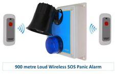 Long Range 900 Metre Loud 118 Decibel Wireless 'S' Range Panic & Lockdown Alarm