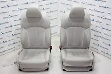 BMW Front Comfort Seats Leather Nappa 5er 7er G30 G31 G11 G12 Weiss Ventilated