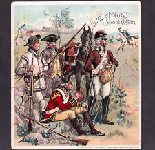 Revolutionary War Uniforms 1880's Minutemen Rifleman Holabird Sewing Trade Card