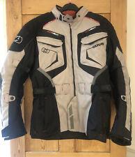Oxford Ankara Long Waterproof Textile Motorcycle Motorbike Jacket Grey Black L