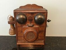 "Vintage MUSIC BOX George-Good Crank Style Wood Telephone  plays ""Hello Dolly"""