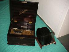 """Polyphon con chapa discos 28cm juego lata Antique 11"""" Discs Christmas Music Box"""