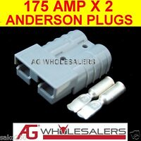 2 X 175 AMP ANDERSON STYLE PLUG CONNECTORS 24v 12V DC 175a