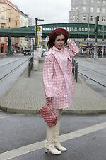 Kleid mit Gürtel dress rosa weiß kariert girl 50er True VINTAGE 50´s fashion