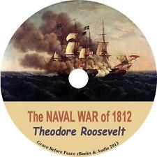 Naval War of 1812 Teddy Roosevelt Historical Audiobook on 1 MP3 CD Free Shipping