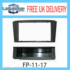 FP-11-17 TOYOTA AVENSIS T25 2003 to 2008 BLACK SINGLE or DOUBLE DIN FASCIA PANEL
