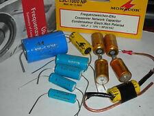 MONACOR monarch frequenzweichen ELKO glatt rauh CROSSOVER condensateur BIPOLAR