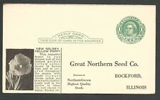1924 POSTAL CARD ROCKFORD IL GREAT NORTHERN SEED CO CATALOG OFFER UNUSED