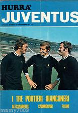 HURRA JUVENTUS=N°9 1971=POSTER ROBERTO BETTEGA=FERNANDO VIOLA RETROCOVER=cod.71