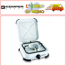 KEMPER FORNELLO A GAS 1 FUOCO BRUCIATORI PROF. PER CAMPEGGIO 104980 FORNELLINO