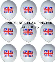 Union Jack UK Flag Printed Balloons Street Party Decorations GB Great Briton