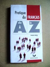 Livre Pratique du Français de A à Z  /O24