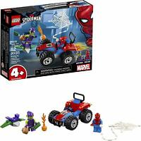 LEGO Marvel Spider Man Car Chase 52Pc Building Kit Green Globin Superhero Figure