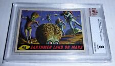 1962 Mars Attacks Earthmen Land On Mars Card #48 BVG 8 Like PSA BGS Alien Horror