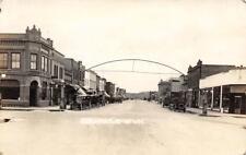 RPPC COLERAINE, MN Old Cars Street Scene Minnesota ca 1920s Vintage Postcard