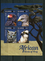 Gambia 2014 MNH African Birds of Prey II 4v M/S Bateleur Osprey Owl Red Kite