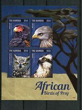 Gambia 2014 MNH africana RAPACI II 4v M / S BATELEUR Osprey OWL RED KITE