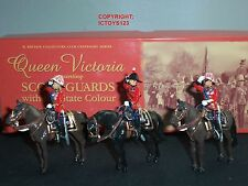 BRITAINS 40209 SCOTS GUARDS GENERAL STAFF OFFICERS MOUNTED METAL TOY SOLDIER SET