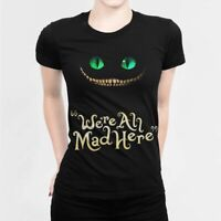 Alice In Wonderland Cheshire Cat T-shirt, Women's Tee