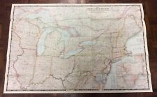 Large Vintage Map Of The Great Lakes Region - National Geographic 1953