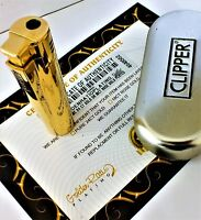 24Ct Gold Plated Windproof Jet Cigar Clipper Lighter Refillable Gift Boxed 24K