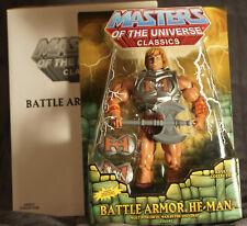 Battle Armor He-Man Masters of the Universe Classics MOTU MOTUC Sealed on Card
