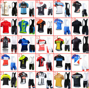 Mens Cycling Jersey Set Summer Short Sleeve Bike Outfits Racing Bicycle Clothing