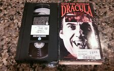 TASTE THE BLOOD OF DRACULA RARE VHS TAPE! 1969 VAMPIRE HORROR! CHRISTOPHER LEE!
