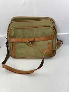 Vintage Hartman Luggage Shoulder Bag Carry-On Nylon & Leather With Lock And Key