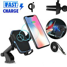 2 in 1 Qi Wireless Fast Charging Car Charger Mount Holder Stand For Cell Phone