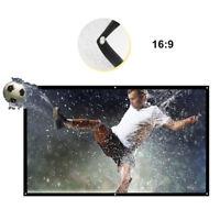 100'' Portable Projector Screen HD 16:9 White Dacron Diagonal Video Screen