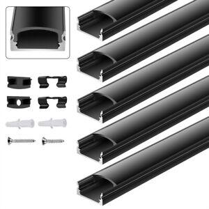 5 x LED profil Aluprofil Alu Leiste Schiene Profile für LED-Streifen Eloxiert 1m