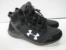 UNDER ARMOUR Basketball LOCKDOWN HI-TOP SHOES Leather/Textile BLACK US-8,UK-7,41