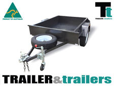 6x4 SINGLE AXLE DOMESTIC H/DUTY BOX TRAILER | SMOOTH FLOOR | FIXED FRONT | NEW
