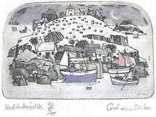 Graham Clarke Etching/Gravure UK UNIQUE 'Haddocksville' RARE and Signed € 39,00