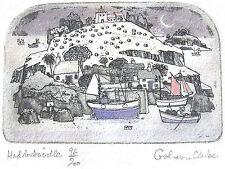 Graham Clarke Etching/Gravure UK UNIQUE 'Haddocksville' RARE and Signed € 29,00
