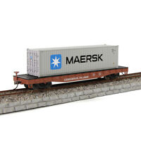 HO Scale LEHIGHTON,PA.18235 52' Flat Car 40ft Shipping Container Freight Cars