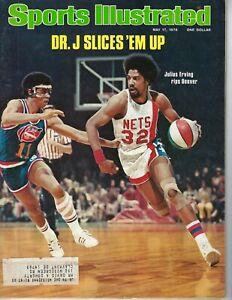 1976 Sports Illustrated magazine basketball Dr J Julius Erving New York Nets VG