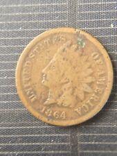 Semi Key Date Rare 1864 Indian Head Penny Cent Good Grade Civil War Era Coin