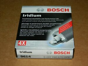 (4) NEW BOSCH 9614 IRIDIUM SPARK PLUGS FOR ACCORD CR-V CIVIC CSX MDX RL RSX