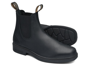 Blundstone Black full grain leather elastic sided boot with square toe (663)