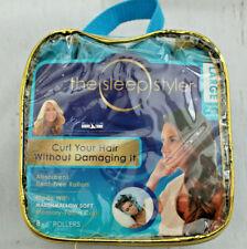 """Sleep Styler Heat-free Hair Curlers Large 6"""" Rollers 8 Count Memory Foam New"""