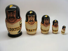 Nesting Doll Players MLB Team Pittsburgh Pirates 5 Pieces