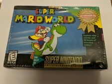 Super Mario World (Nintendo SNES, 1992) RARE FACTORY SEALED BRAND NEW HANG TAB