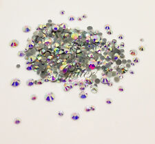 FLAT BACK RHINESTONES FOR NAIL ART - MIXED SIZES - VARIOUS COLOURS - 400 STONES