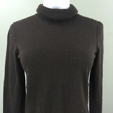 Victor Alfaco Woman's Brown Turtleneck Sweater SMALL EUC
