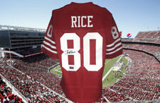 JERRY RICE SAN FRANCISCO 49ERS  AUTOGRAPHED CUSTOM JERSEY JSA  AUTHENTICATED