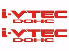 Honda I-Vtech DOHC Decal Stickers Set of 2 Civic Accord Prelude CRX SI RED #1